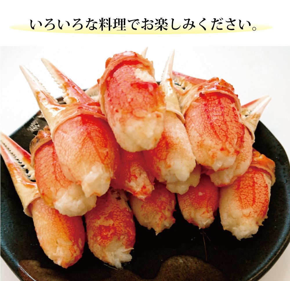 ボイル本ずわいがに爪肉(大)500g【冷凍】(タイム缶詰)